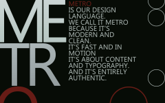 Постер «Metro Design Language»