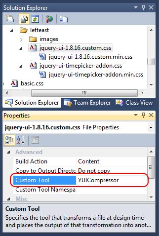 Настройка сжатия CSS-файла с помощью VS-расширения Minifier