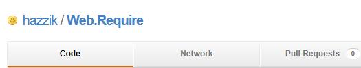 Страница менеджера ресурсов Web.Require на сайте GitHub