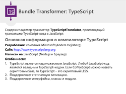 Слайд №30 «Bundle Transformer: TypeScript»