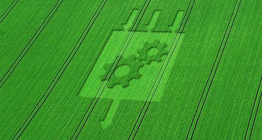 Логотип Bundle Transformer на сельскохозяйственном поле