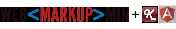 Логотипы WebMarkupMin, KnockoutJS и AngularJS
